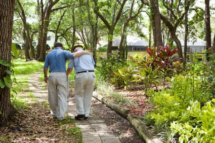 Walking in the Park: VBPM doctors have considerable experience in geriatric care as well as general internal medicine.